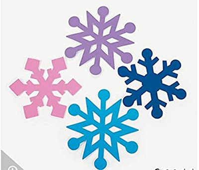 Foam Jumbo Snowflakes - 24 Pc Winter Craft Foam Shapes to decorate