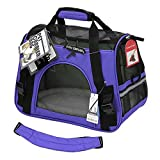 """JH Pet Carrier Soft Sided Cat / Dog Comfort """"FAA Airline Approved"""" Travel Tote Bag - 2015 Newly Designed (Lavender Purple, Large)"""