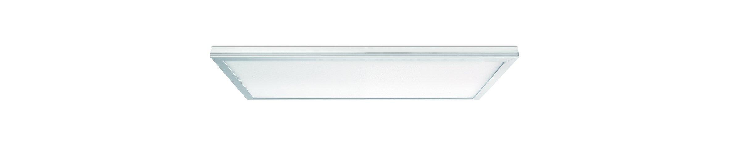 Leviton SKT12-CW Skytile 20-Watt Brushed Aluminum 1 x 2 Integrated LED Flat Panel Light, Cool White Temperature