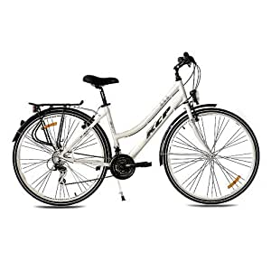 "28"" KCP TREKKING BIKE BICYCLE WOMEN ARA ALLOY 21 speed SHIMANO white - (28 inch)"