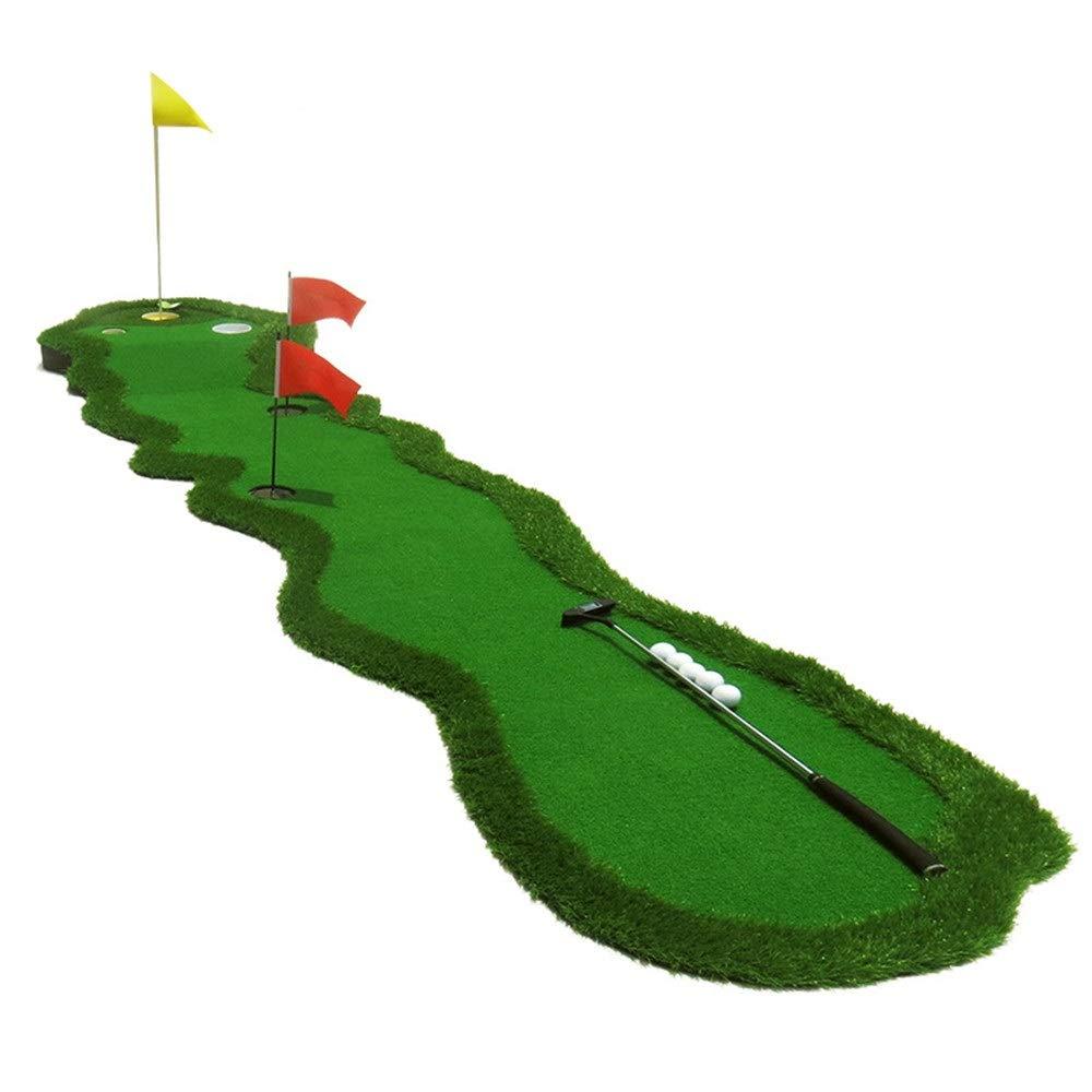 ファミリーゴルフマット 屋内ゴルフパッティングポータブルミニフェアウェイエクササイズゴルフパッティンググリーンマットリビングルーム、バルコニー、オフィス、斜面付ガーデン ゴルフグリーン (色 : 緑, サイズ : 3.6*0.7M) 3.6*0.7M 緑 B07S9T5ZPX
