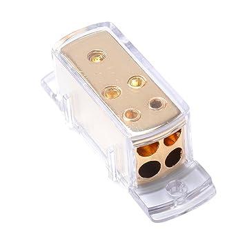 vorcool de 4 Vías Auto Audio Stereo Amp Power Ground Cable Splitter ...