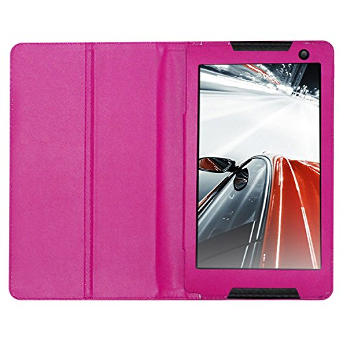 Acm Executive Leather Flip Case Compatible with Lenovo Tab S8 Tablet Tablet Front  amp; Back Flap Cover Stand Holder Pink