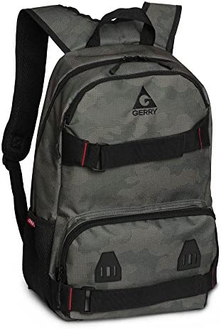 Gerry Outdoors – Lansing Nylon Camouflage Zip Top Backpack, Olive