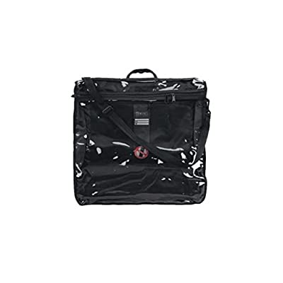 """Tallit Tote Bag Rain Proof Black with Carry Handle Clear Front in Size Large 16.5"""" W X 17"""" H"""
