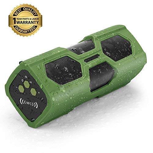 Cheapest Price! Waterproof Bluetooth Speaker,Sport Portable Wireless Stereo Speaker 12-Hour Playtime...