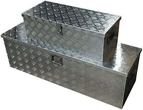 SEIKOH アルミ工具箱 ツールボックス 大型 123cm 小型 76cm セット 取っ手付き 鍵付きボックス 防水 軽トラ 屋外用