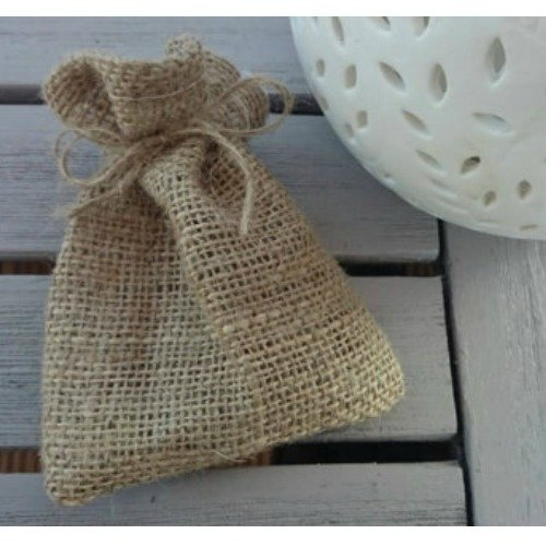 100 X Hessian Wedding Favour Bags For A Rustic Decor Small Plain Gift Jute
