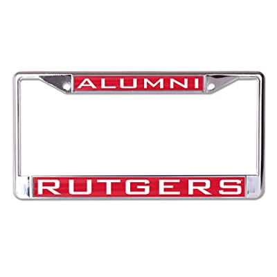 WinCraft Rutgers L365658 Inlaid Metal LIC Plate Frame : Sports & Outdoors