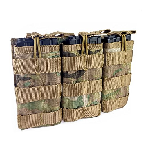 Loglife Tactical Magazine Pouch Holds Holster Triple M4/M16 Open Top Mag Pouch (System M4 Double Mag Pouch)