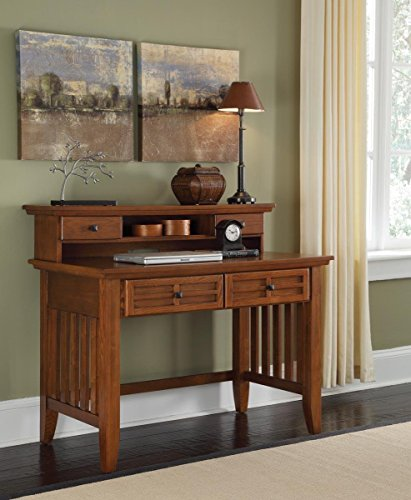 Home Styles 5180-162 Arts and Crafts Student Desk and Hutch, Cottage Oak Finish For Sale