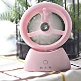 USB Operated Fan for Beauty, Home, Office and Travel Water Misting Fan Portable Fan Water Spray Fan Personal Cooling Humidifier (red rose)
