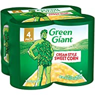 Green Giant Cream Style Sweet Corn, 4 Pack of 14.75 Ounce Cans