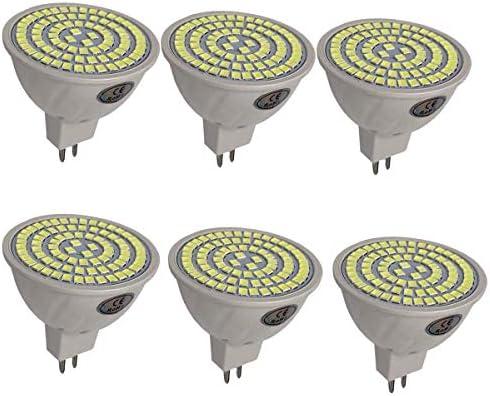 LEDMOMO MR16 Bombilla LED 6pcs 8W Bombillas halógenas Lámpara de foco Bombilla Downlight de bajo consumo (blanco cálido)