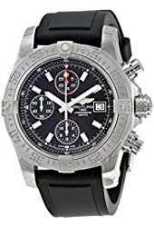 Breitling Avenger II Automatic Chronograph Black Dial Black Rubber Mens Watch A1338111-BC32BKPT