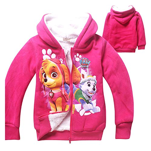 PCLOUD Cute Dog Girls' Hoodies Coat Jacket Fleece Warm Winter Outwear ()