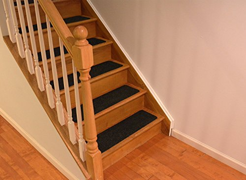 Dark Brown Slip Proof Stair Tread : Rugstylesonline stair treads collection set of indoor
