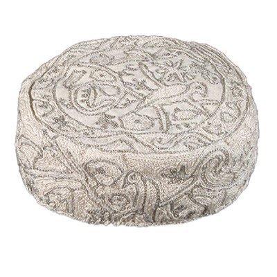 Yair-Emanuel-Hand-Embroidered-HatBucharian-Kippah-Kippa-Birds-in-Silver
