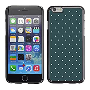 Paccase / SLIM PC / Aliminium Casa Carcasa Funda Case Cover para - Wallpaper Green Love Pastel - Apple Iphone 6