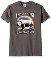 T-Line Men's Funny Shirt Chubby Unicorns Graphic T-Shirt