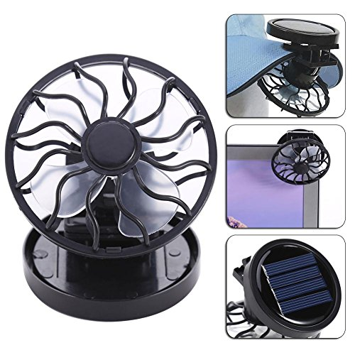 Anysell88 Sun Solar Powered Cooling Fan Clip-On Mini Solar Panel Cell Beach Outdoors ()
