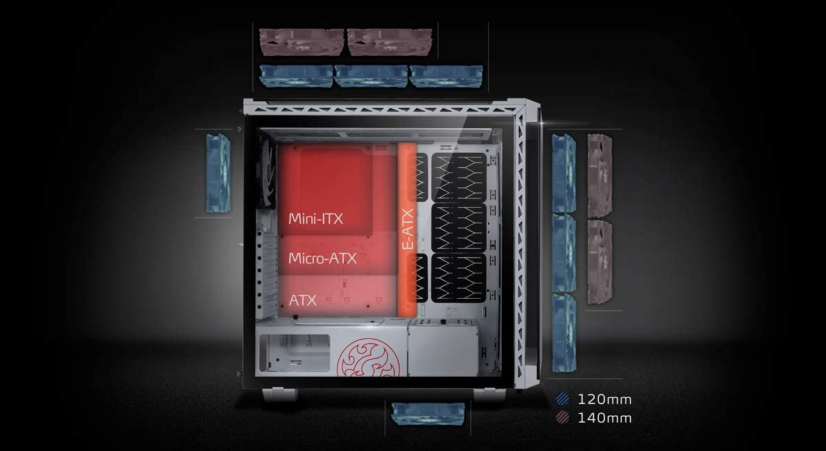 Tool-less Magnetic Dust Filter And Front Panels Modular Fit With Tempered Glass Panel White ADATA XPG Battlecruiser Super Mid-Tower ATX PC Gaming Case Smart Cable Management