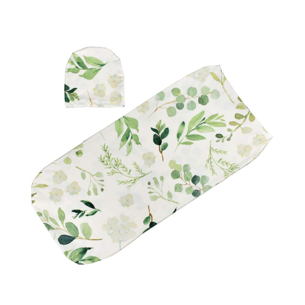 Dabixx Baby Swaddle Blanket +Cap Newborn Cocoon Wrap Cotton Swaddling Bag Sack Bedding - 3#