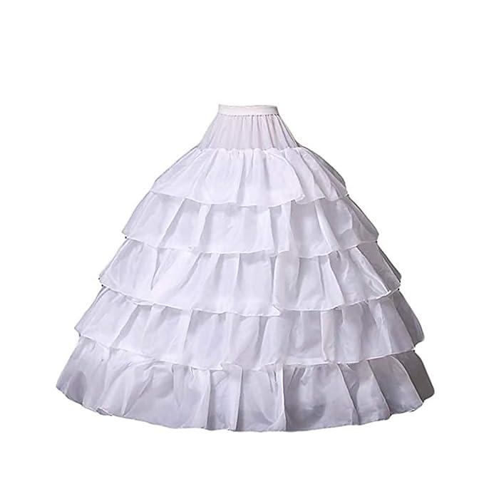 Mallalah Crinolina Enaguas Mujer Largas para Vestidos de Novia Boda Faldas Falda Enagua de Crinolina para