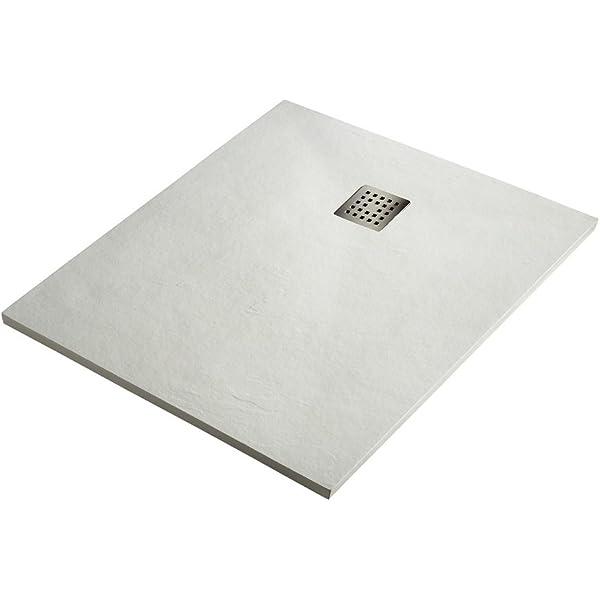 Plato de Ducha Resina Sintextone Mod. Pacifico Blanco Ral 9003 70 cm Ancho (80x70, BLANCO): Amazon.es: Bricolaje y herramientas