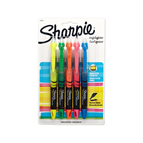 Sanford Liquid (Sharpie Accent Sharpie Pen-Style Highlighters, 5 Colored Highlighters(24575PP))
