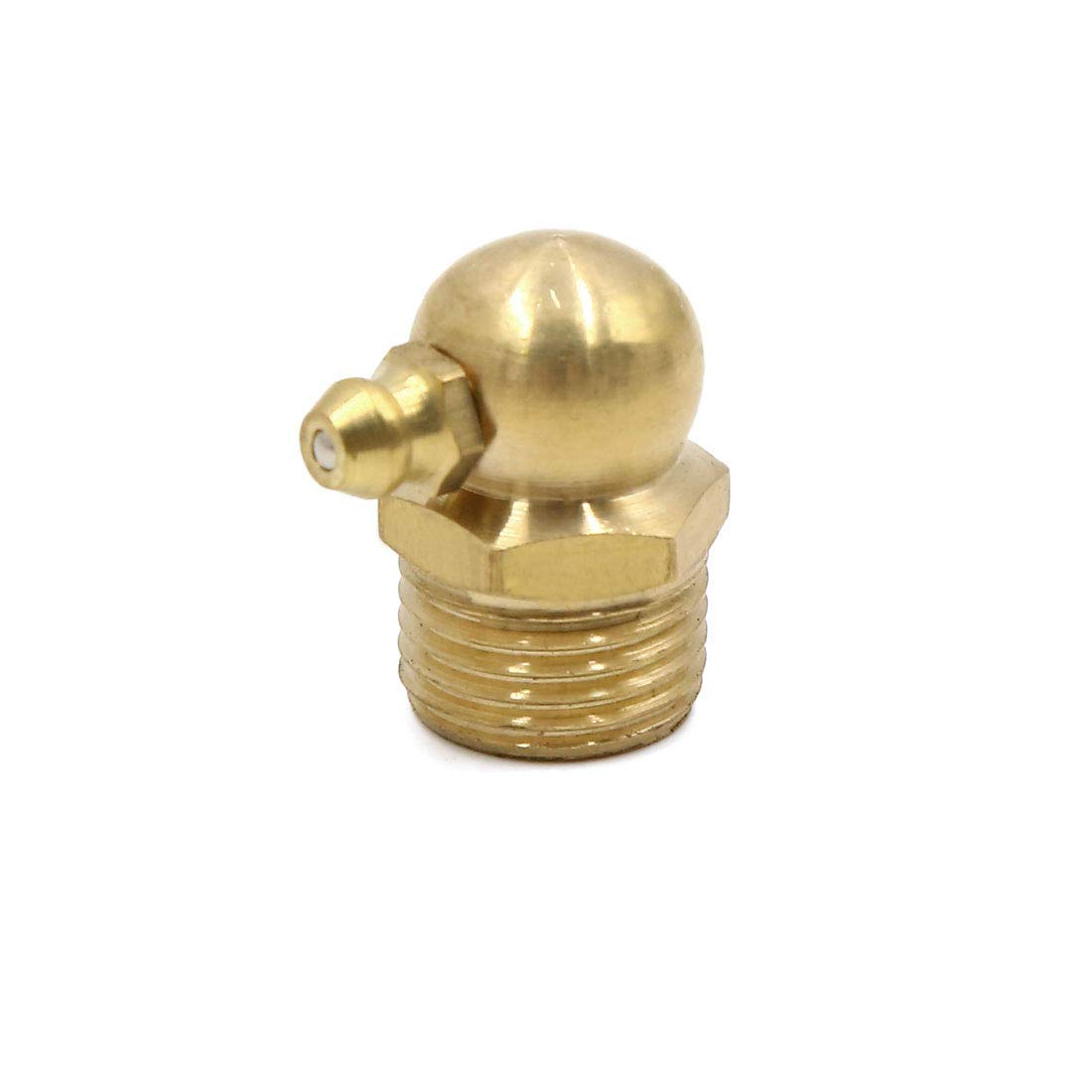 M16 x 1.5 Thread Brass 90 Degree Angle Grease Nipple Fitting for Car