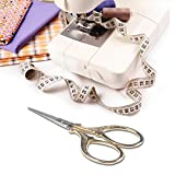 Hisuper Embroidery Scissors with Leather Scissors