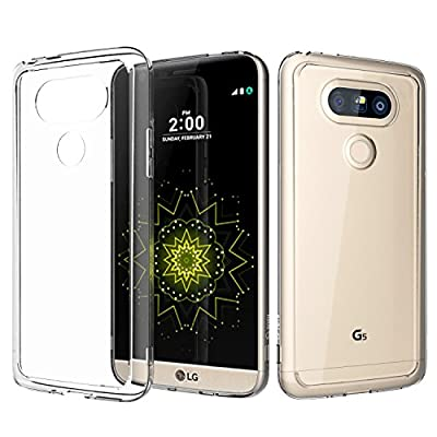 LG G5 Case, TOTU [Crystal Clear] Transparent Back Panel + TPU Grip Bumper [Scratch Resistant] Shock Absorbing Corner Protection Thin Lightweight Protective Case Accessories Cover for LG G5 Warranty