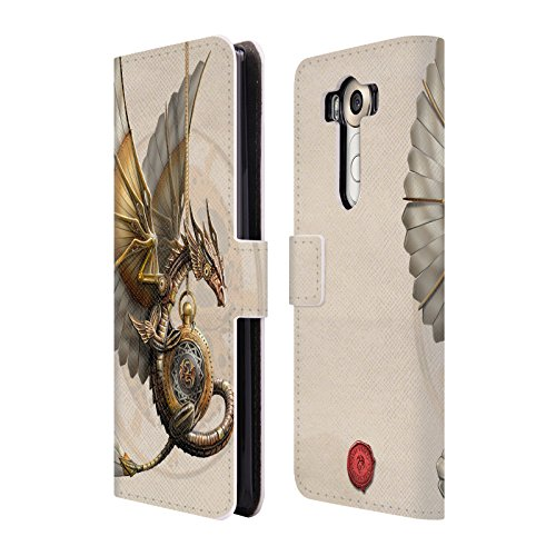 Official Anne Stokes Clockword Dragon Steampunk Leather Book Wallet Case Cover For LG - Steampunk Cover