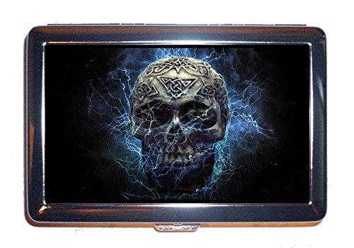 Cigarettes Case Skull Death Scary Haunted Bone Illuminated Head (Cigarettes ()