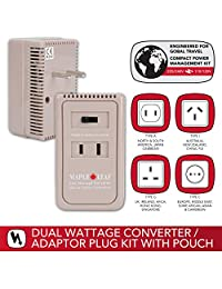 Maple Leaf Dual Wattage Convert Adaptor Kit, White, International Carry-On