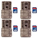 Moultrie A30i 12MP 60' Video No Glow Game Trail Camera, 4 Pack + 16GB SD Cards