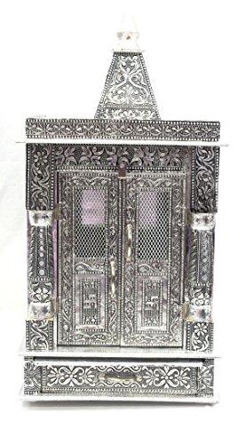 AMBA HANDICRAFT wooden oxidized hindu temple for home and office. Shrine altar mandir pooja prayer faith Diwali festival / wedding decoration / indian temple 004 by Amba Handicraft