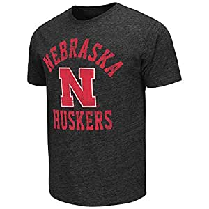 Mens NCAA Nebraska Cornhuskers Short Sleeve Tee Shirt (Heather Black) - 2XL