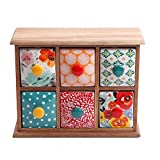 The Pioneer Woman Flea Market 6-Drawer Spice/Tea Box, 2-Pack