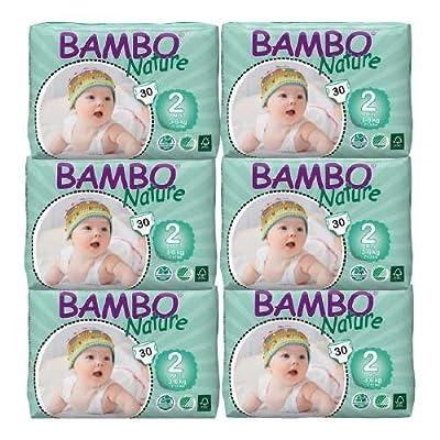 Bambo Nature Premium Eco-Friendly Diapers, 2 Mini 30 ea