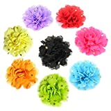 PET SHOW Dog Gold Dot Charms Flower Collar Accessories For Cat Puppy Collars Bowtie Grooming Pack of 8