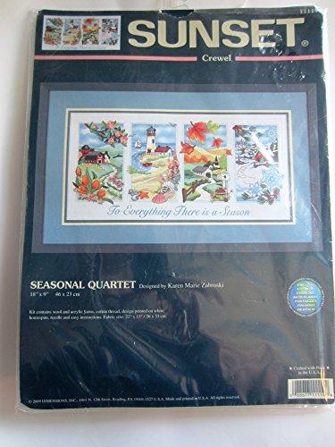 Seasonal Quartet Crewel Embroidery Stitchery Kit 11119