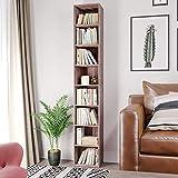 Homfa CD DVD Storage Tower Rack, 8-Tier Wooden