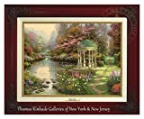 Thomas Kinkade The Garden of Prayer 12'' x 16'' Canvas Classic (Brandy)