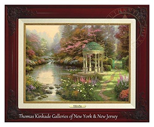 Thomas Kinkade The Garden of Prayer 12'' x 16'' Canvas Classic (Brandy) by Thomas Kinkade