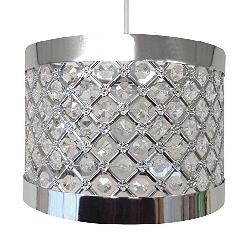 Country Club Easy Fit Moda Sparkly Ceiling Pendant Light Shade Fitting Modern - Sparkle Shad