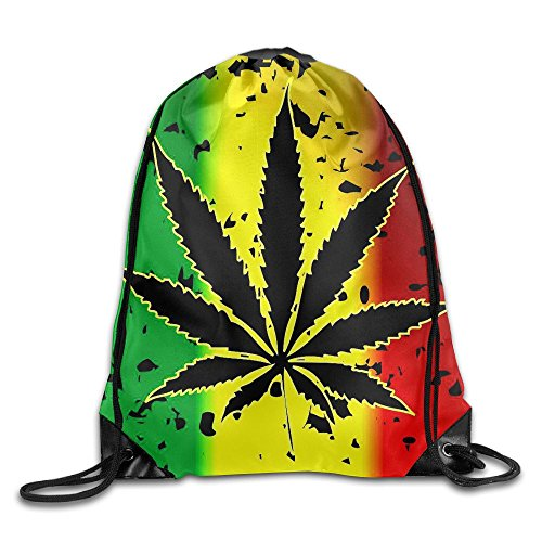 Price comparison product image Marijuana Leaves Cool Drawstring Travel Sports Backpack Gift