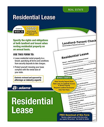 - Adams Residential Lease, Forms and Instructions (LF310) (2 Pack)