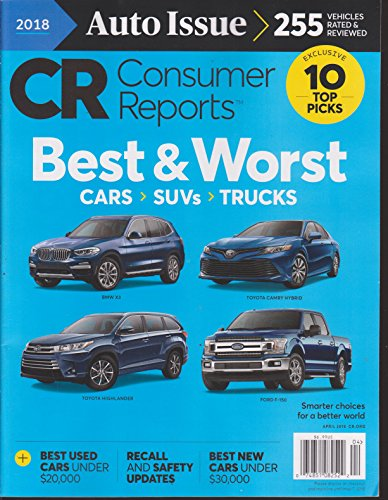 Consumer Reports Magazine April 2018 Auto Issue for sale  Delivered anywhere in USA